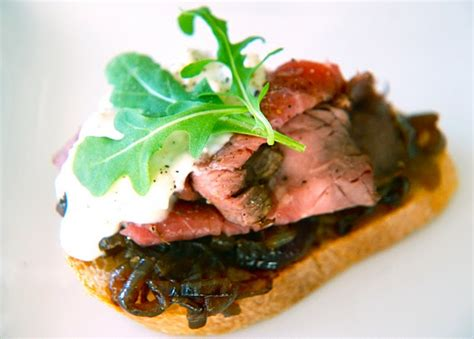 beef canapes recipes roast beef canapés with stilton and jam