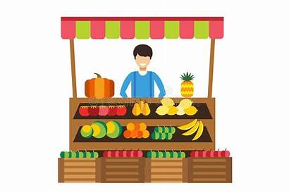 Fruit Stall Fruits Vegetables Vector Silhouette Clipart