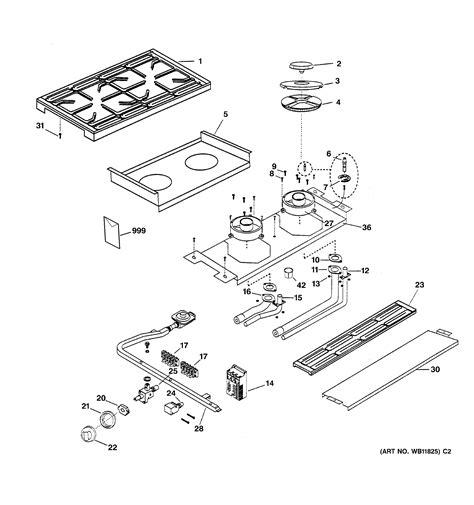 ge cooktop parts ge gas range parts model zgs30l4ass sears partsdirect