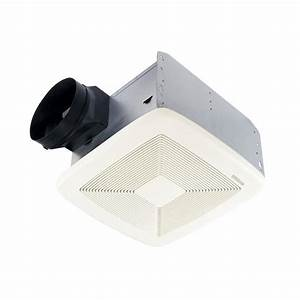 Shop broan 08 sone 80 cfm white bathroom fan energy star for Bathroom ventilation fans