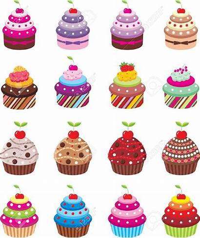 Cupcakes Cupcake Clipart Monthly Vector Dibujos Cliparts