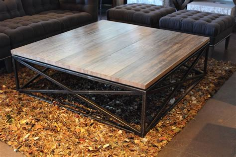 Transitional Maplewood Crisscross Design Coffee Table At