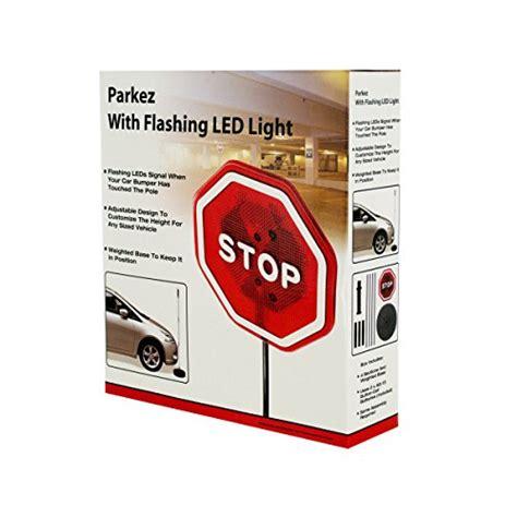 parkez stop sign flashing led light car garage sign