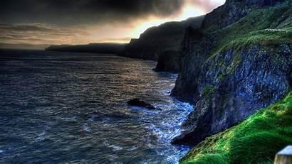 Ireland Northern Amazing Coastline Beach Desktop Ballintoy