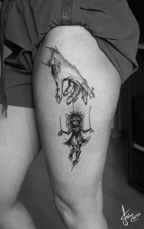 Puppet Master Tattoo | Line art tattoos, Body art tattoos