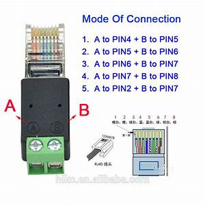 Rj45 To Rs485 Rj45 To Screw Rj45 To 2pin Connector