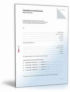 Einverständniserklärung Der Eltern Für Bewerbung : sorgerechtsverf gung eltern muster zum download ~ Themetempest.com Abrechnung