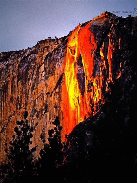 California Waterfall Yosemite Falls