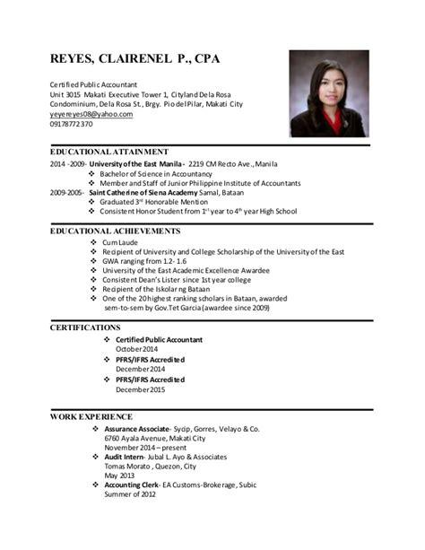 sle cpa resume philippines krida info