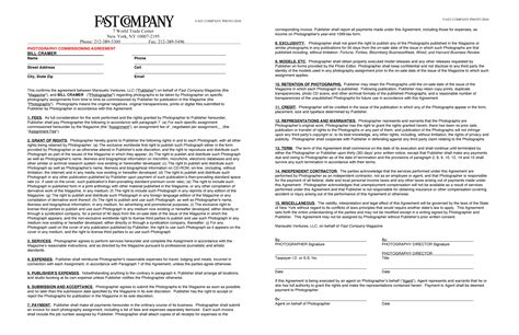 commercial photography terms and conditions template june 2011 a photo editor