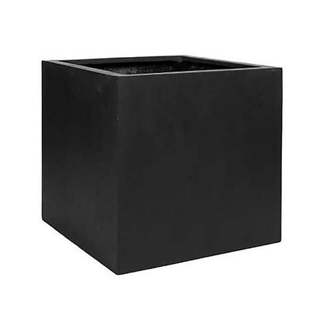 Black Square Planter Box by Vasesource 12 In X 12 In Matte Black Fiberstone Square