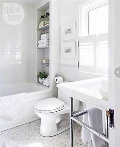 Bathroom Decor All White Bathroom Makeover Style At Home