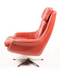 orange leather swivel chair 1972 for sale at pamono