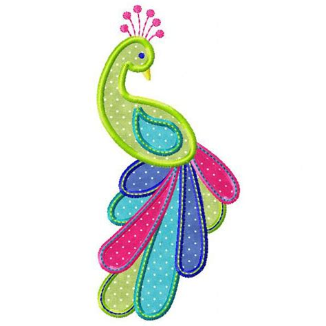 Embroidery And Applique Designs by Peacock Machine Embroidery Applique From Http Www