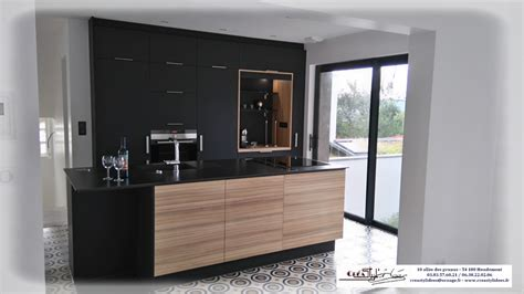 cuisine plan de travail noir cuisine noir et bois cuisine noir et bois versailles