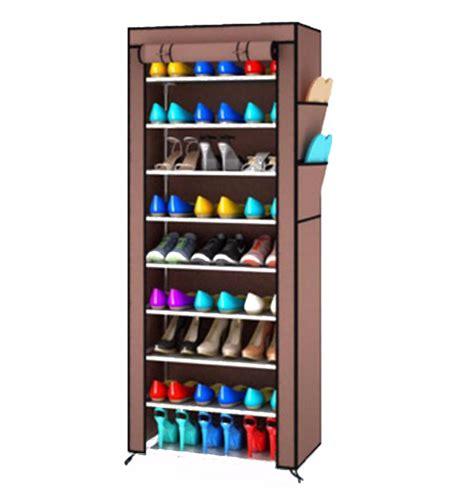 Rak Sepatu Cover 10 Susun jual rak sepatu cover 10 susun shoe rack with dust cover
