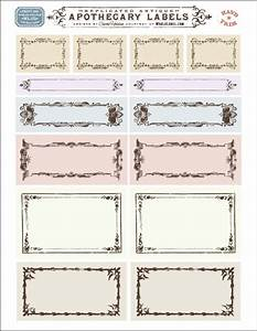 ornate apothecary blank labels by cathe holden With free online label design and print