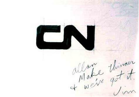 Cn Logo Designed By Allan Fleming & Cn Brand Guidelines