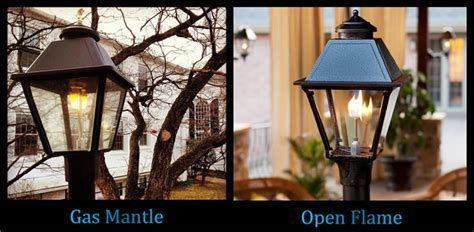 gas l mantles outdoor wall mount outdoor gas light with swag top s gas
