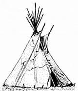 Tent Wigwam Teepee Clipart Drawing Coloring Native American Indian Pages Clip Tipi Americans Teepees Colouring Printable Indians Sheet Architecture Tepee sketch template