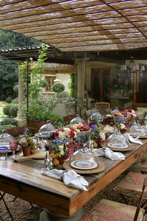 high end rustic outdoor dining beautiful dishes and