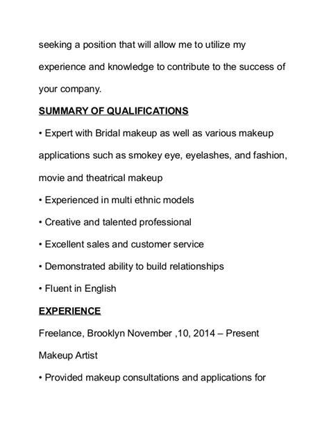 Artist Resume Objectiveartist Resume Objective by Makeup Artist Resume