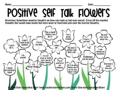 flower positive  talk  positive  esteem