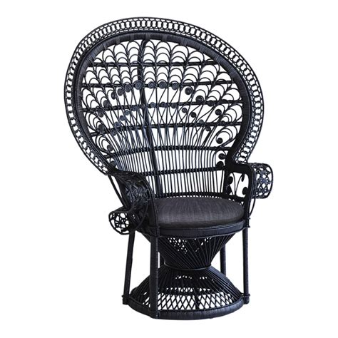 peacock chair black the family tree