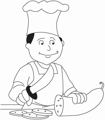 Chef Coloring Pages Hat Colouring Chefs Community