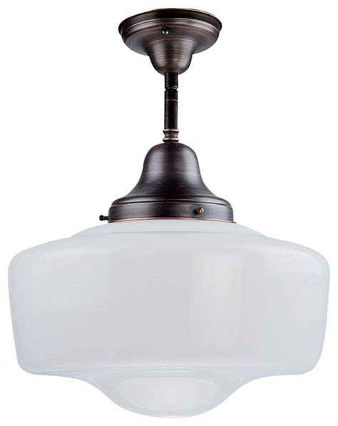 dvi lighting dvp7511 schoolhouse semi flush mount