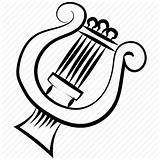 Drawing Lyre Harp Getdrawings Instrument Classical sketch template