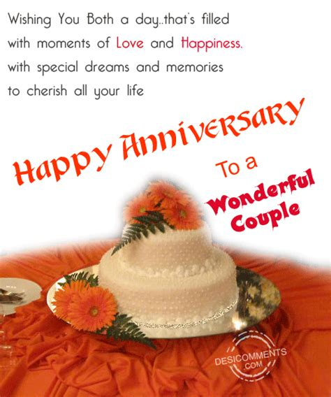 happy anniversary   wonderful couple desicommentscom