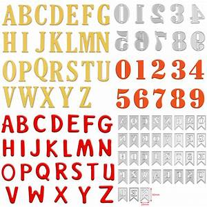 5cm alphabet letter a z numbers 0 9 cutting dies stencil for Large letter die cuts