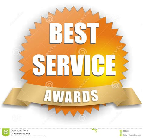 The Best Service Vector Best Service Award Stock Vector Illustration Of
