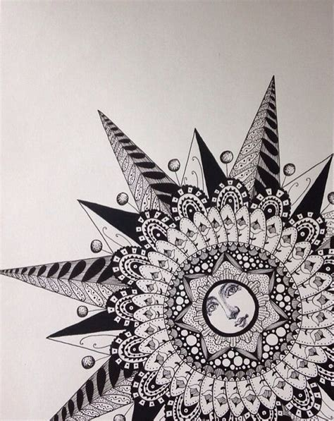 Zentangle black and white / graphic print / illustration ...