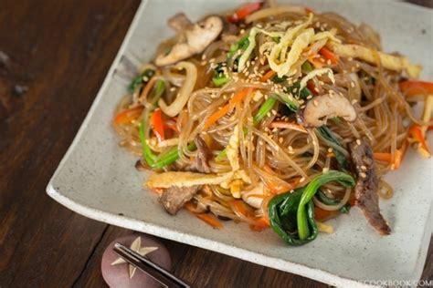 japchae korean stir fried noodles   cookbook