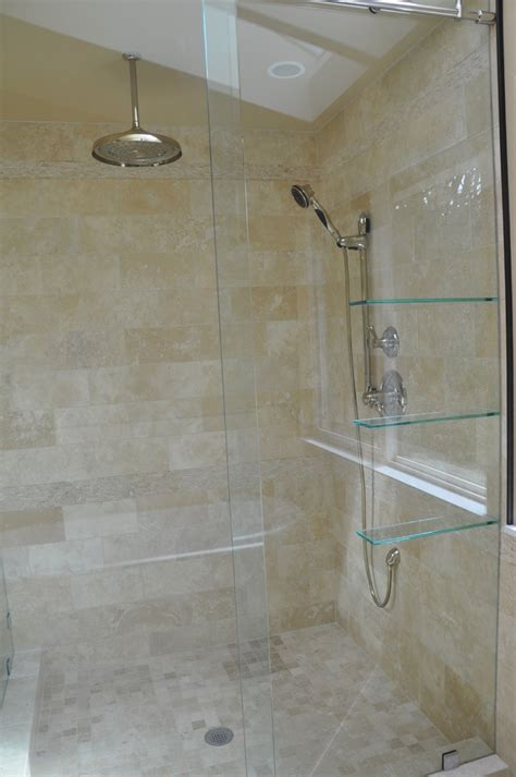 popular bathroom tile shower designs marvelous floating glass shelves look other metro