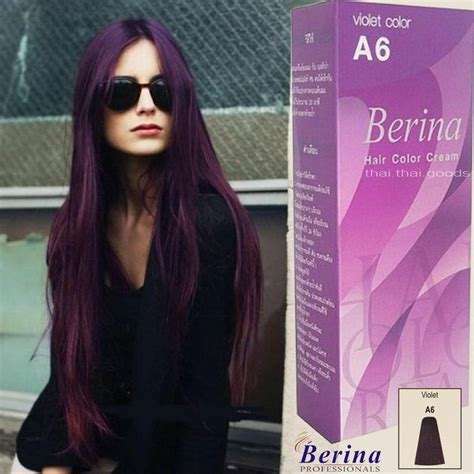 Berina A6 Purple Violet Permanent Hair Dye Color Cream