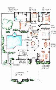 Modern, Mediterranean, Swimming, Pool, House, Plans, With, Pools