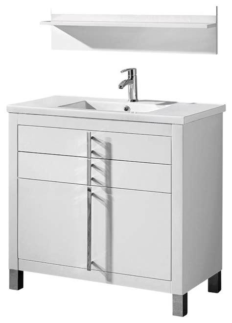 Adornus TURIN 30 HGW C High Gloss White Vanity   Modern