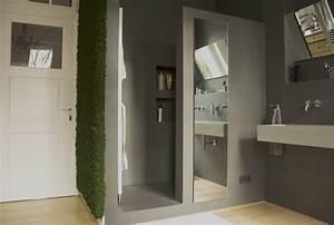 Wasserfeste Wandverkleidung Bad : fugenloses bad in betonoptik bonn farbefreudeleben ~ Lizthompson.info Haus und Dekorationen