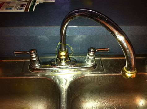 kitchen faucet leaking at base 301 moved permanently