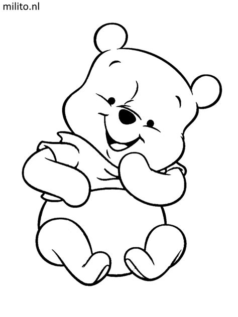 Kleurplaat Winnie The Pooh Baby kleurplaat winnie de pooh kleurplaat vor kinderen 2019