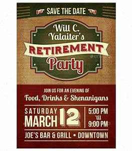 retirement party flyer template 11 download documents With free retirement templates for flyers
