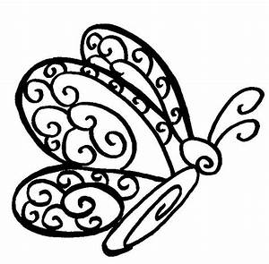 Butterfly Outline Coloring Page | Butterfly