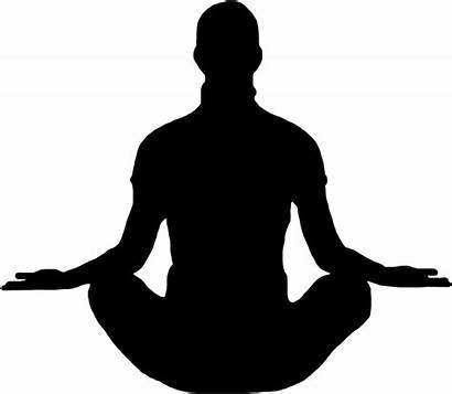 Silhouette Meditation Meditating Clipart Yoga Transparent Clip