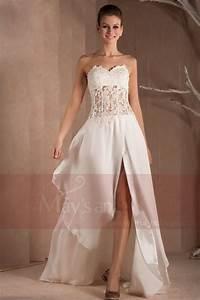 Robe Mariage Dentelle : robe de mariage chic bustier transparent dentelle et ~ Mglfilm.com Idées de Décoration