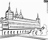 Monastery Coloring Designlooter Escorial El sketch template