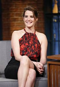 Cobie Smulders at Late Night With Seth Meyers in New York ...