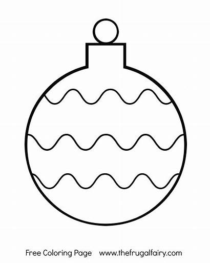Coloring Ornament Christmas Pages Printable Ornaments Bulb